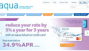 cant pay aqua credit card