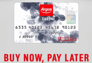 cant pay argos credit card debt