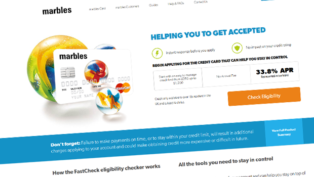 can't pay marbles credit card